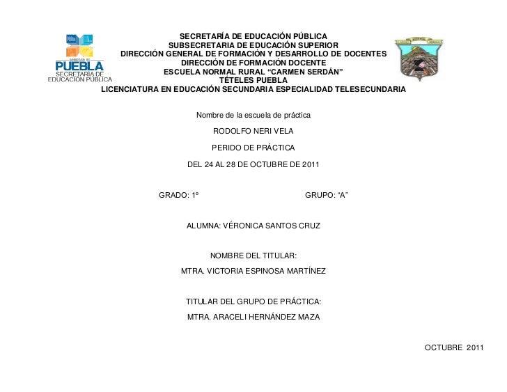 SECRETARÍA DE EDUCACIÓN PÚBLICA               SUBSECRETARIA DE EDUCACIÓN SUPERIOR    DIRECCIÓN GENERAL DE FORMACIÓN Y DESA...