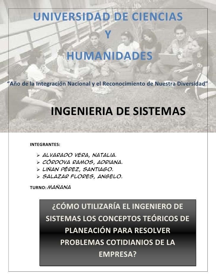 """UNIVERSIDAD DE CIENCIAS                   Y                       HUMANIDADES""""Año de la Integración Nacional y el Reconoci..."""