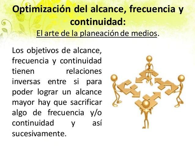 Optimización del alcance, frecuencia y continuidad: El arte de la planeaciónde medios. Los objetivos de alcance, frecuenci...