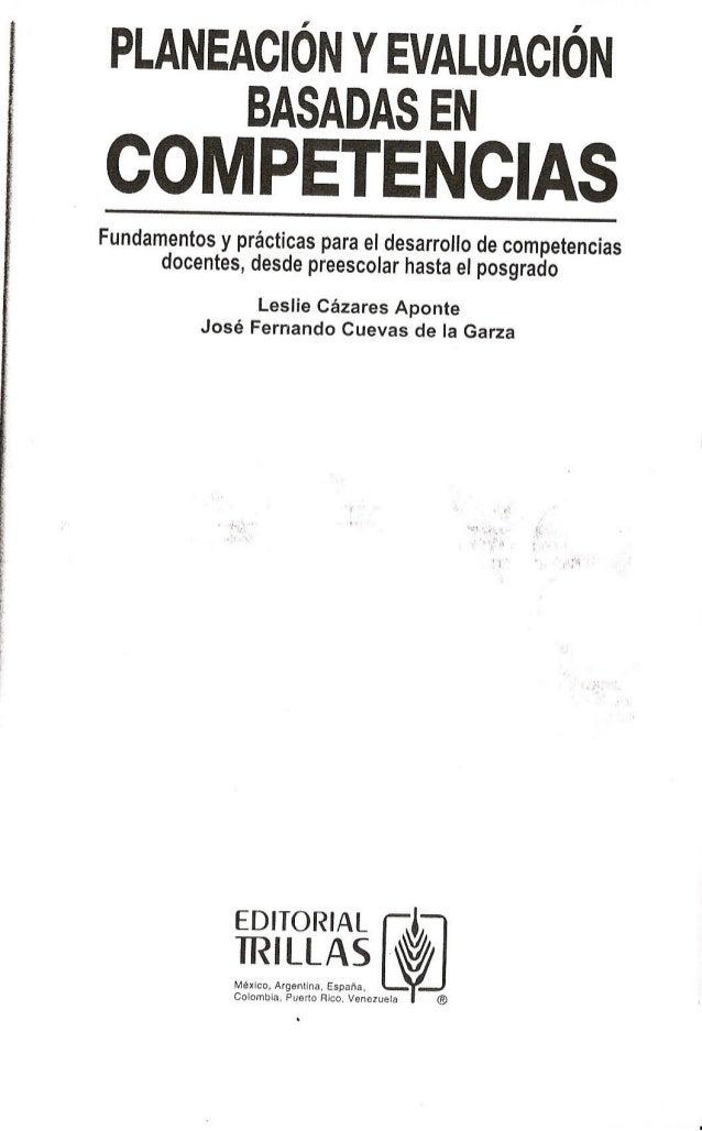 Planeacion basada en competencias Leslie Cazares