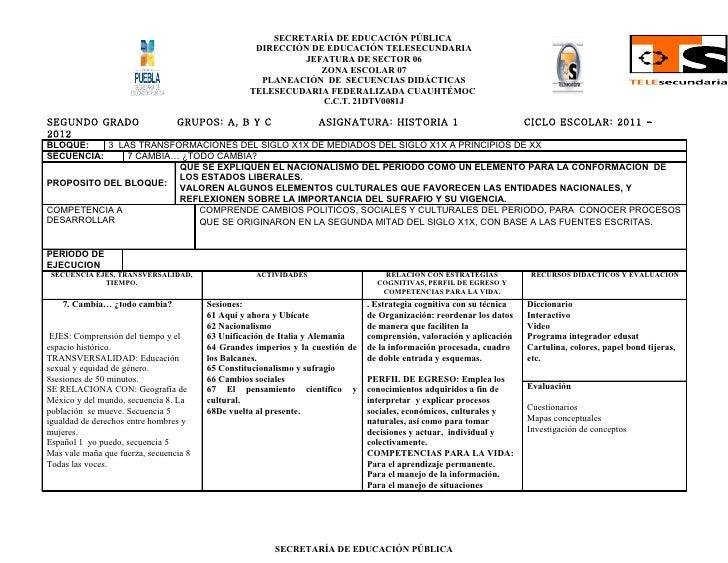 SECRETARÍA DE EDUCACIÓN PÚBLICA                                                   DIRECCIÓN DE EDUCACIÓN TELESECUNDARIA   ...