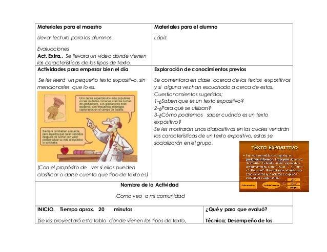 Planeacion de español texto expositivo  (1) Slide 2