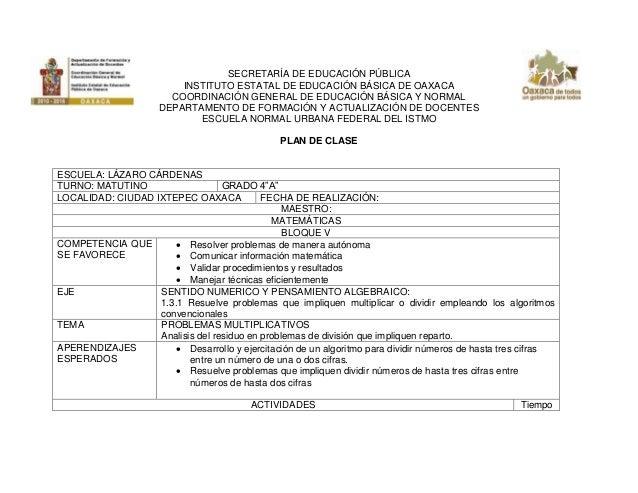 SECRETARÍA DE EDUCACIÓN PÚBLICA INSTITUTO ESTATAL DE EDUCACIÓN BÁSICA DE OAXACA COORDINACIÓN GENERAL DE EDUCACIÓN BÁSICA Y...