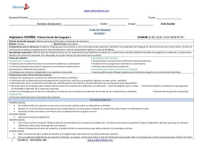 www.editorialmd.com   EJEMPLO EDITORIAL MD www.editorialmd.com Escuela Primaria: _________________________________________...