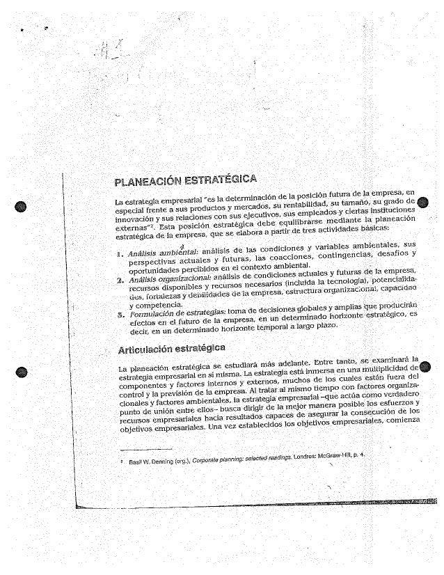 """""""Laléstraiegïa ern-presafial_ la determinado _ _ _ ' especiaïfrente a_'sus'prodü_ctos y mercados_, .sü irentabilidad"""",  su ..."""