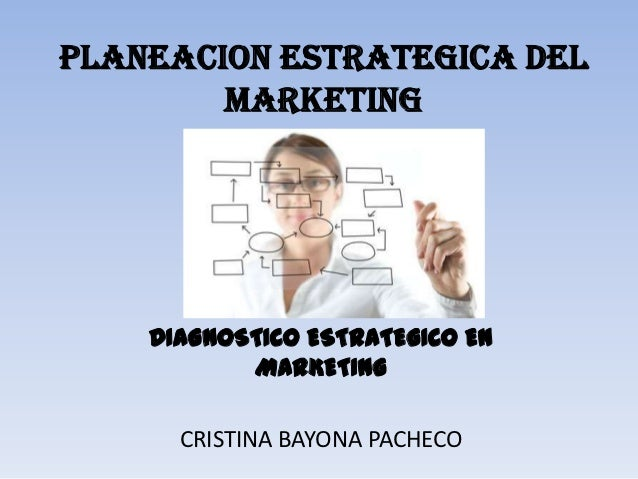PLANEACION ESTRATEGICA DEL        MARKETING    DIAGNOSTICO ESTRATEGICO EN           MARKETING      CRISTINA BAYONA PACHECO