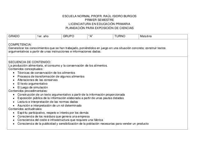 ESCUELA NORMAL PROFR. RAÚL ISIDRO BURGOS                                                   PRIMER SEMESTRE                ...