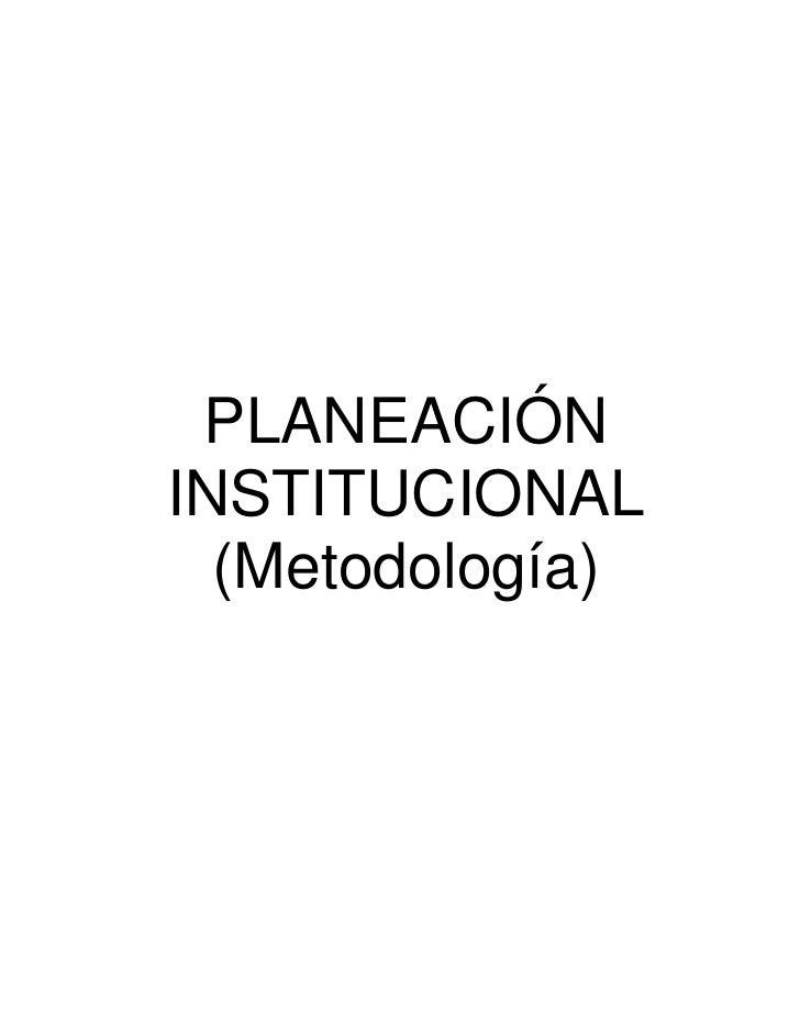 Planeacion institucional sep