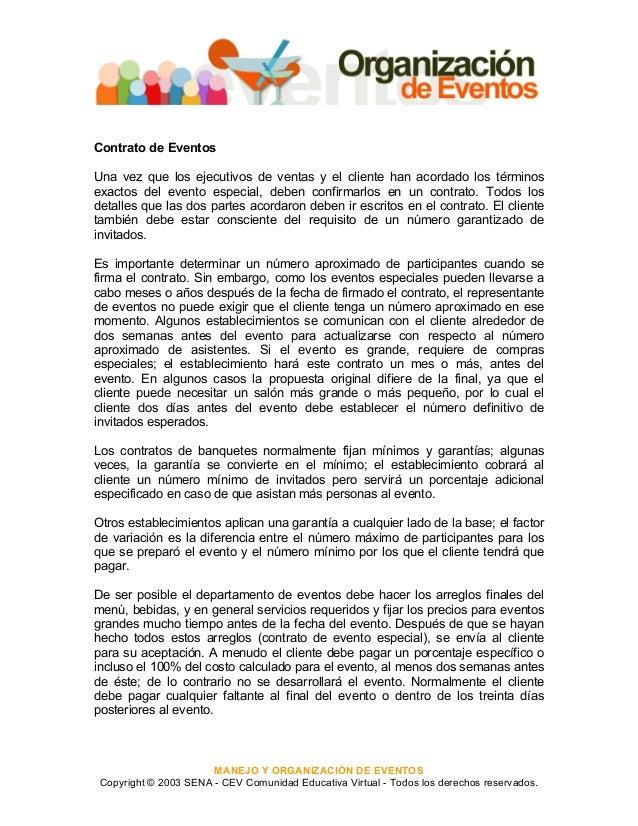 Magnífico Plantillas De Contrato De Planificación De Eventos Adorno ...
