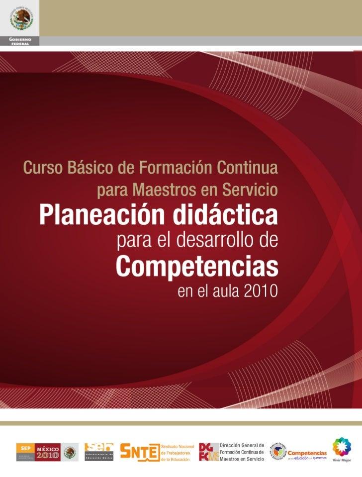 Curso Básico de Formación Continua                                 para Maestros en Servicio                           Pla...