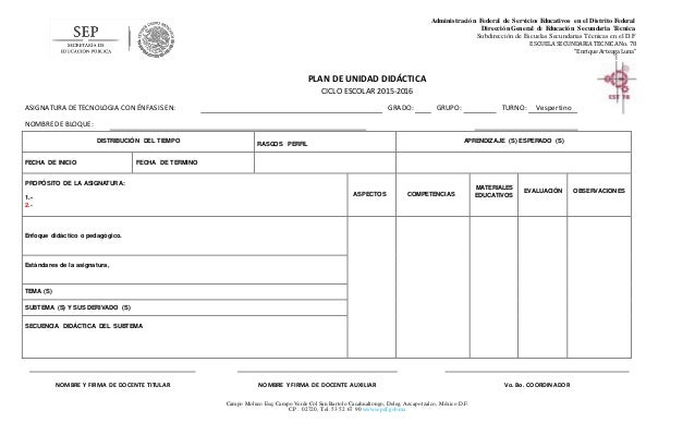 Planeacion Unidad Didactica2 Carta