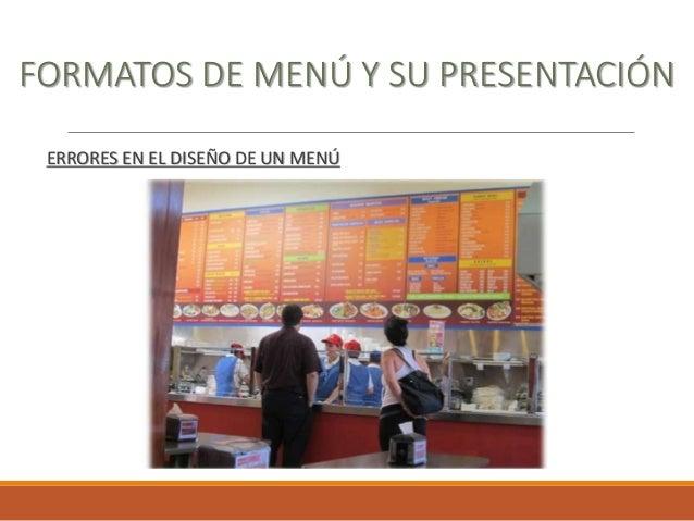 Planeacion y diseño de menu congreso