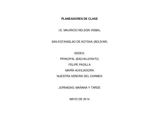 planeadores de clase manevis2014