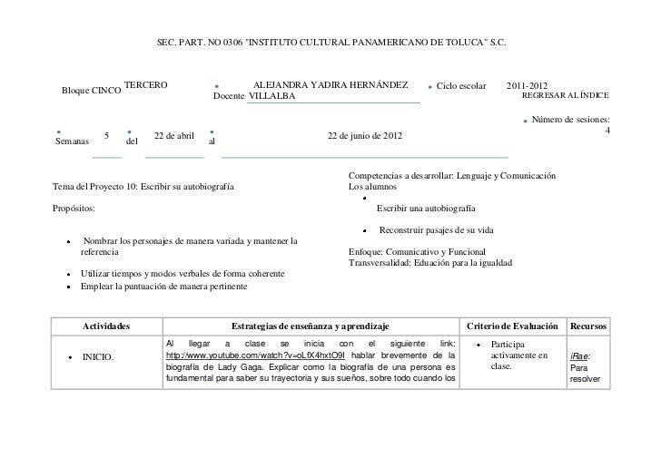 """SEC. PART. NO 0306 """"INSTITUTO CULTURAL PANAMERICANO DE TOLUCA"""" S.C.                  TERCERO                         ALEJA..."""