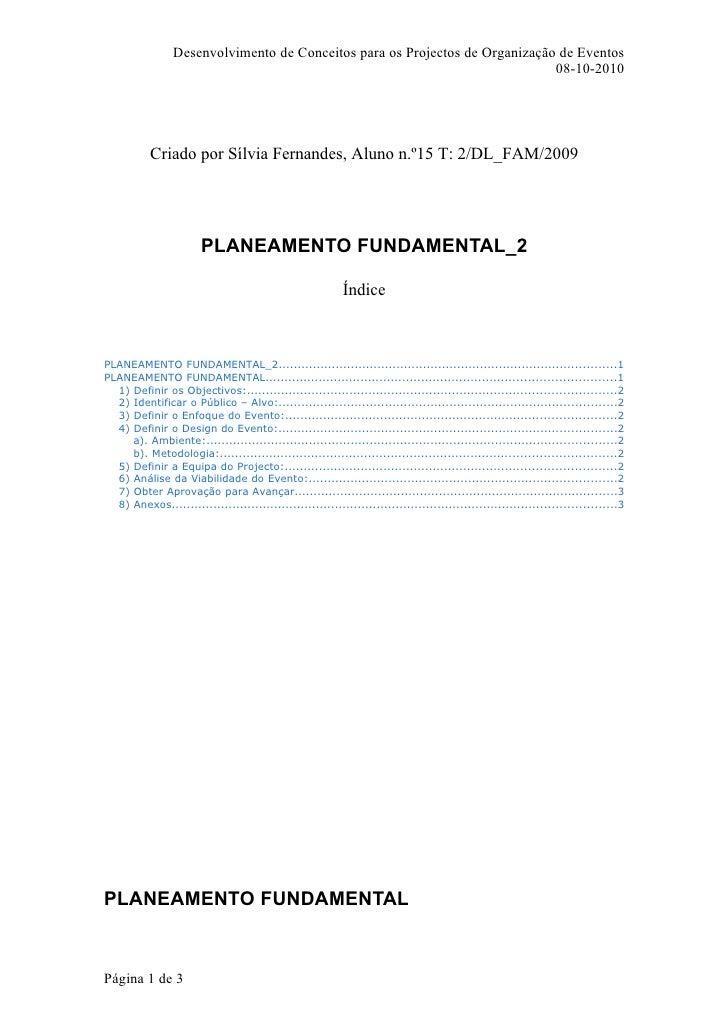 Desenvolvimento de Conceitos para os Projectos de Organização de Eventos                                                  ...