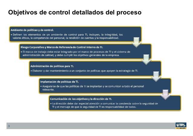 3 Objetivos de control detallados del proceso