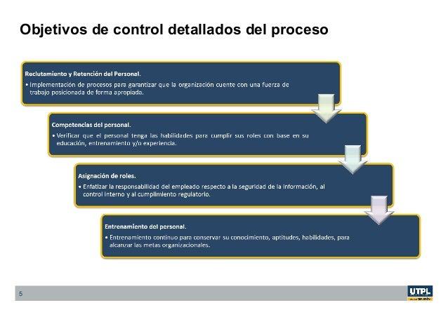 Objetivos de control detallados del proceso 5