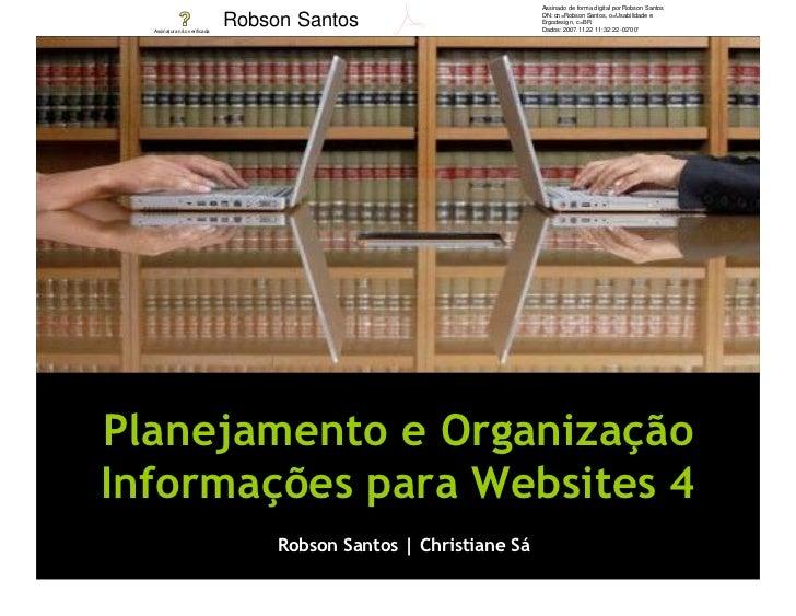 Assinado de forma digital por Robson Santos                                Robson Santos                        DN: cn=Rob...