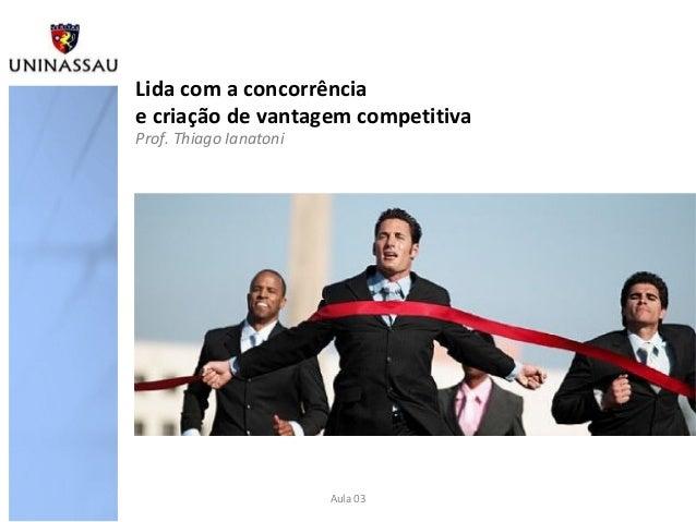 Lida com a concorrênciae criação de vantagem competitivaProf. Thiago Ianatoni                        Aula 03