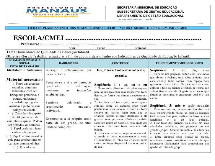 SECRETARIA MUNICIPAL DE EDUCAÇÃO                                                                  SUBSECRETARIA DE GESTÃO ...