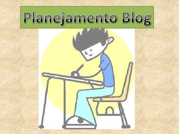 Planejamento Blog<br />