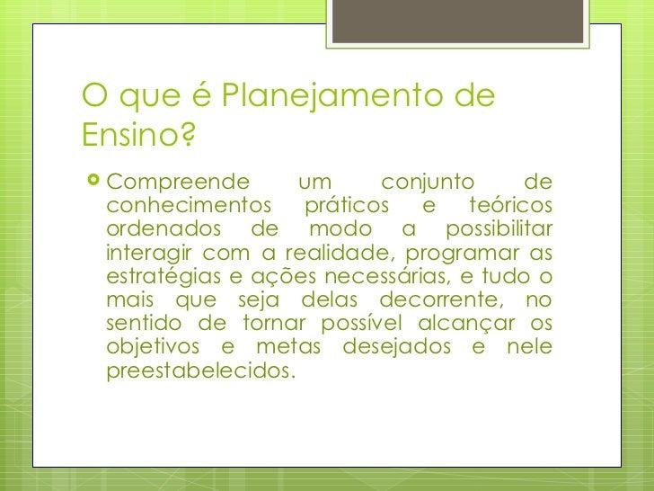 Planejamento de Ensino Slide 2