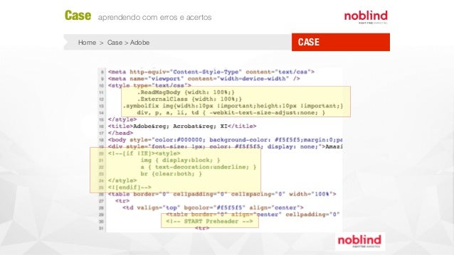 CASE Case aprendendo com erros e acertos Home > Case > Adobe