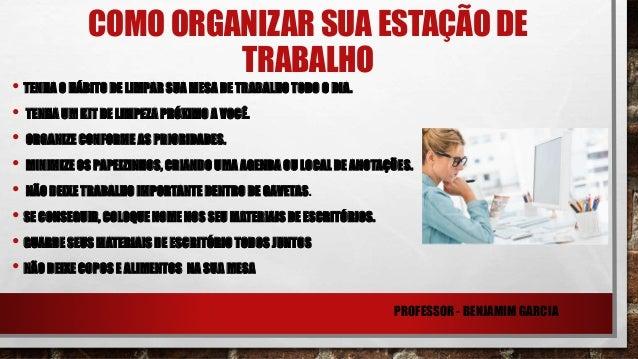 Curso de organizacao no trabalho
