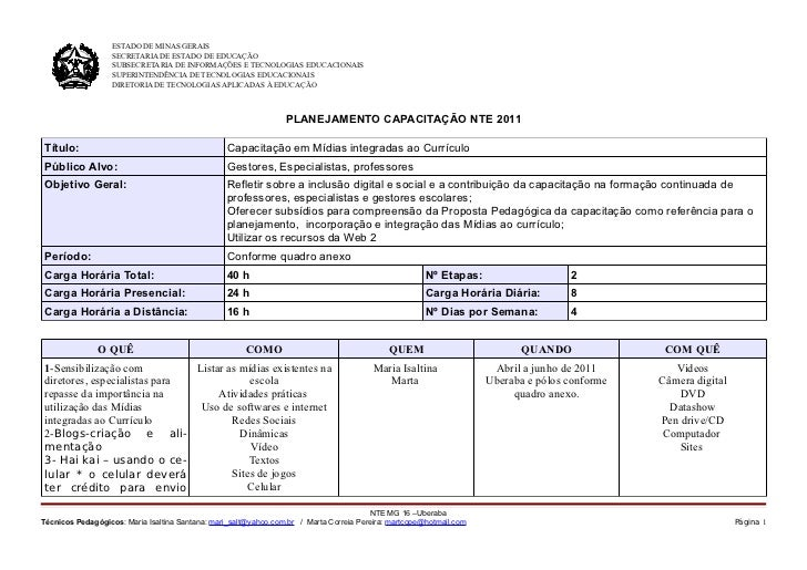 ESTADO DE MINAS GERAIS                   SECRETARIA DE ESTADO DE EDUCAÇÃO                   SUBSECRETARIA DE INFORMAÇÕES E...