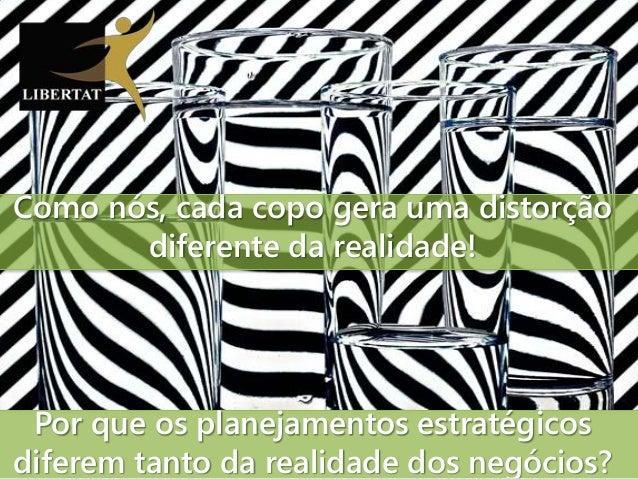 Por que os planejamentos estratégicos diferem tanto da realidade dos negócios? Como nós, cada copo gera uma distorção dife...