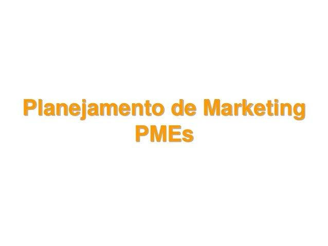 Planejamento de Marketing PMEs