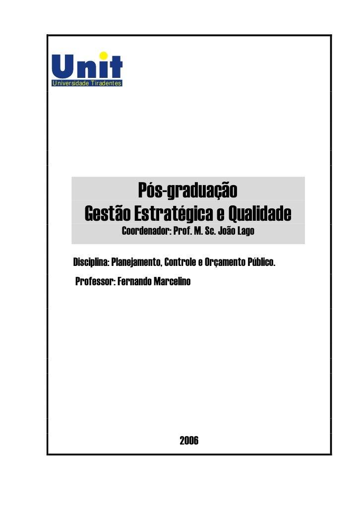 Universidade Tiradentes                       Pós-graduação           Gestão Estratégica e Qualidade                      ...