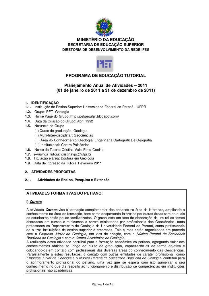 MINISTÉRIO DA EDUCAÇÃO                         SECRETARIA DE EDUCAÇÃO SUPERIOR                      DIRETORIA DE DESENVOLV...