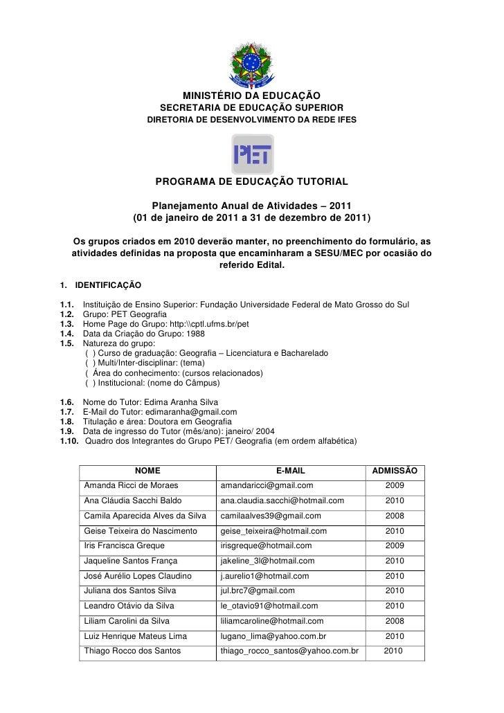 MINISTÉRIO DA EDUCAÇÃO                             SECRETARIA DE EDUCAÇÃO SUPERIOR                         DIRETORIA DE DE...