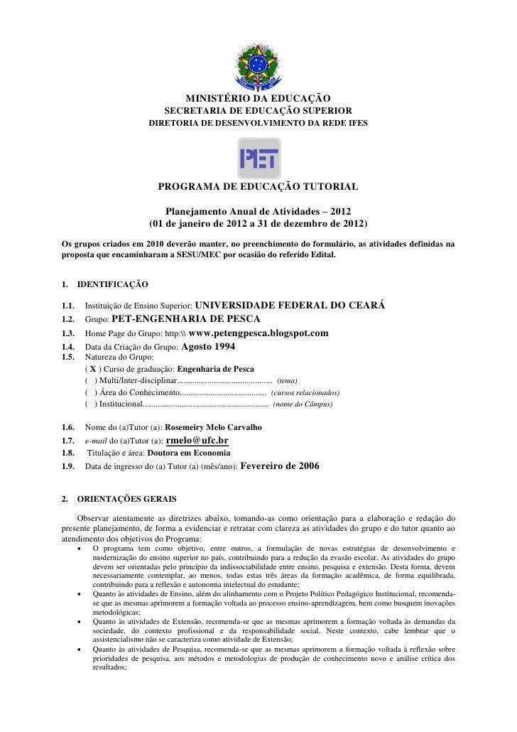 MINISTÉRIO DA EDUCAÇÃO                                       SECRETARIA DE EDUCAÇÃO SUPERIOR                              ...
