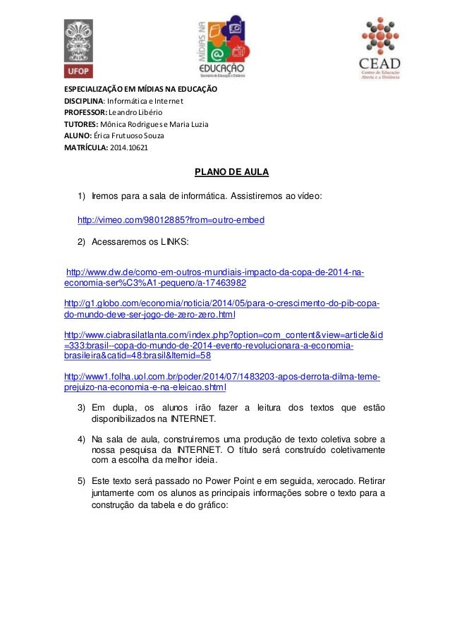 ESPECIALIZAÇÃO EM MÍDIAS NA EDUCAÇÃO DISCIPLINA: Informáticae Internet PROFESSOR: LeandroLibério TUTORES: Mônica Rodrigues...