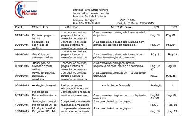 Diretora: Telma Gorete Oliveira Coordenadora: Arinete Sampaio Professor: Armindo Rodrigues Disciplina: Português Série: 6º...