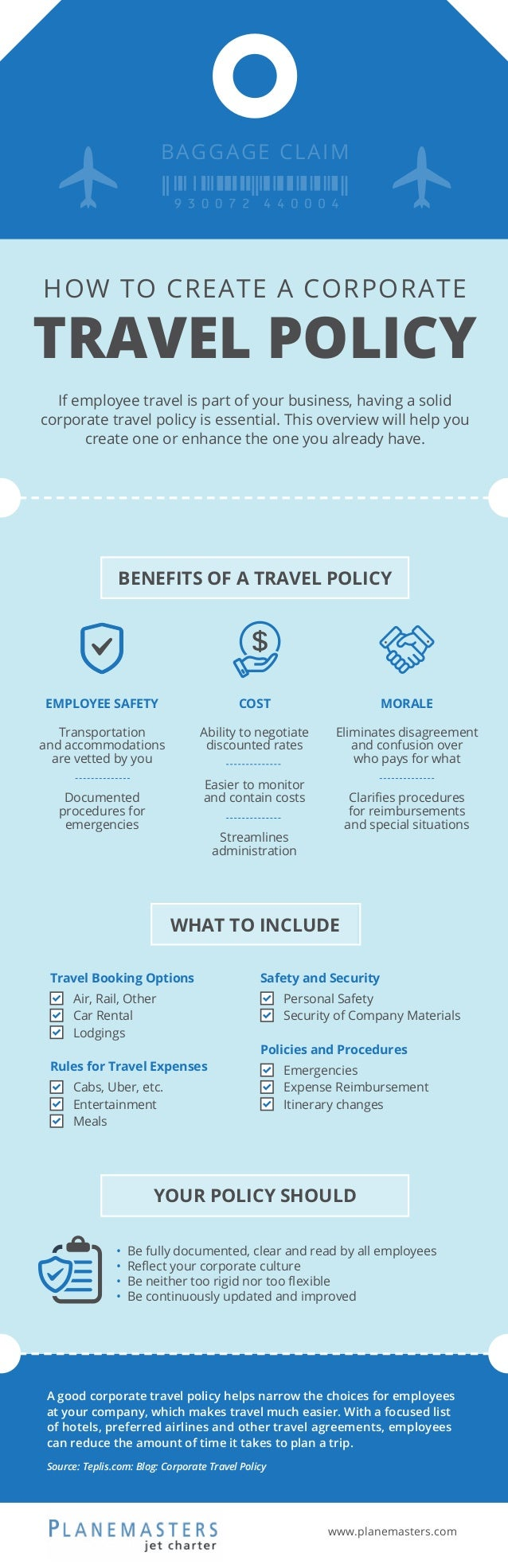 How to Create a Corporate Travel Policy