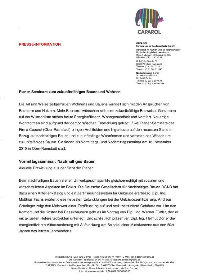 CAPAROL Farben Lacke Bautenschutz GmbH Handelnd im Namen und für Rechnung der Deutsche Amphibolin-Werke von Robert Murjahn...