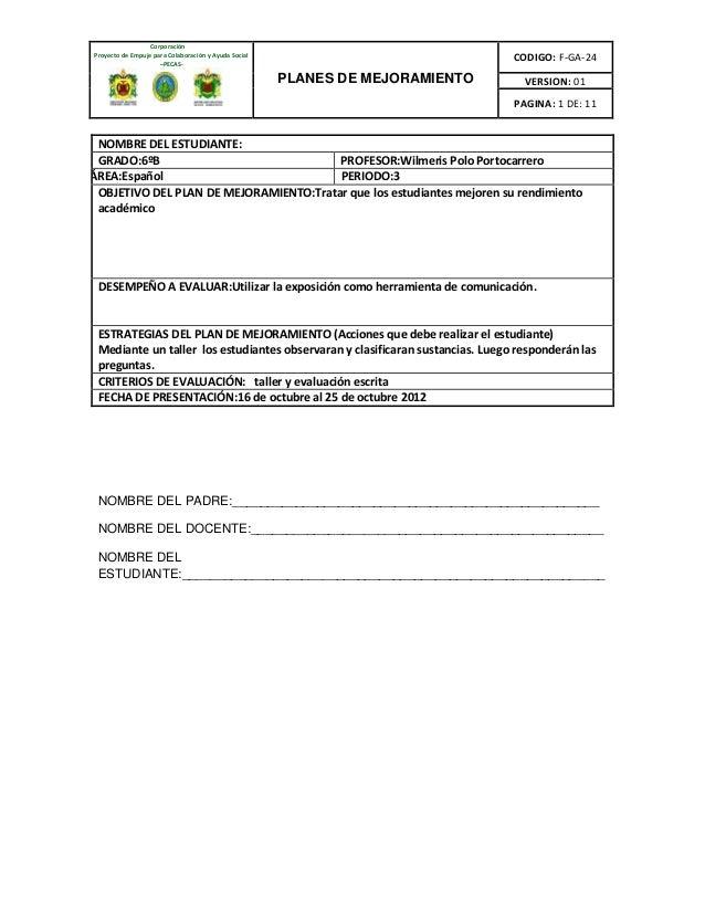 CorporaciónProyecto de Empuje para Colaboración y Ayuda Social                     –PECAS-                                ...