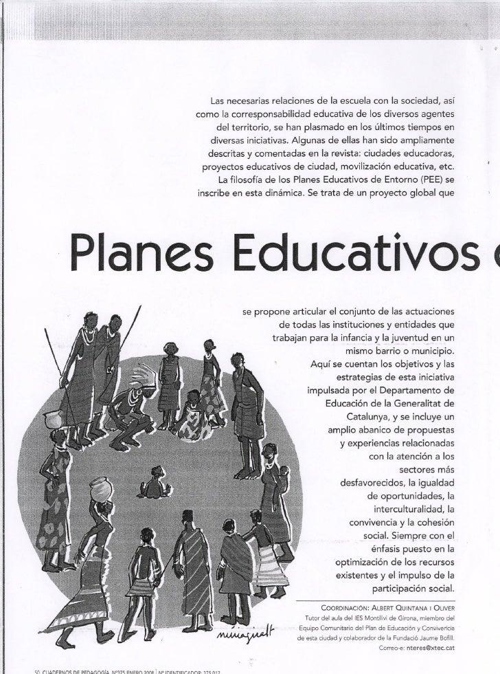 PLANES EDUCATIVOS DE ENTORNO