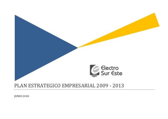 PLAN ESTRATEGICO EMPRESARIAL 2009 - 2013JUNIO 2010