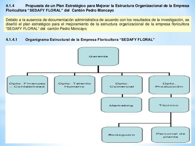 Plan Estrategico Para Mejorar La Estructura Organizacional