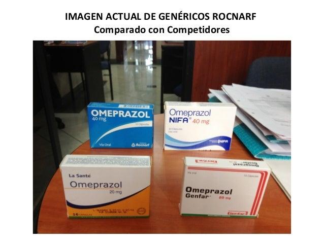 IMAGEN ACTUAL DE GENÉRICOS ROCNARF     Comparado con Competidores