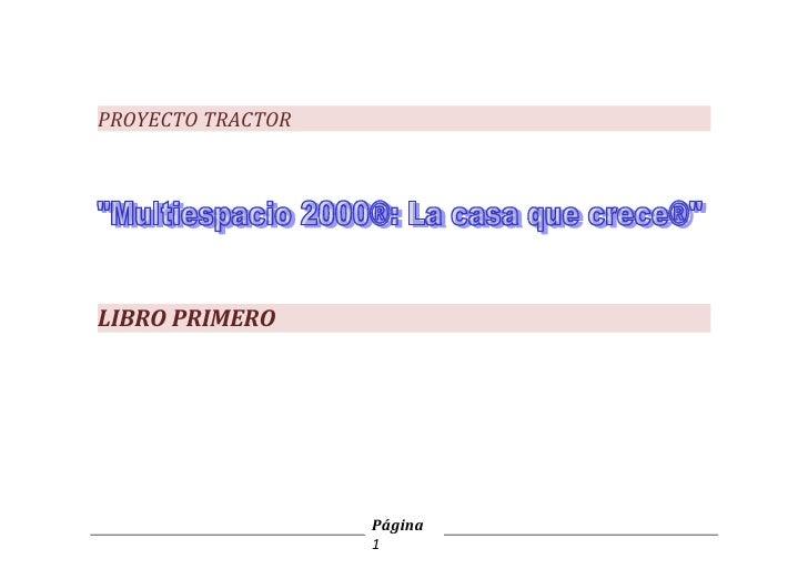 PROYECTO TRACTORLIBRO PRIMERO                   Página                   1