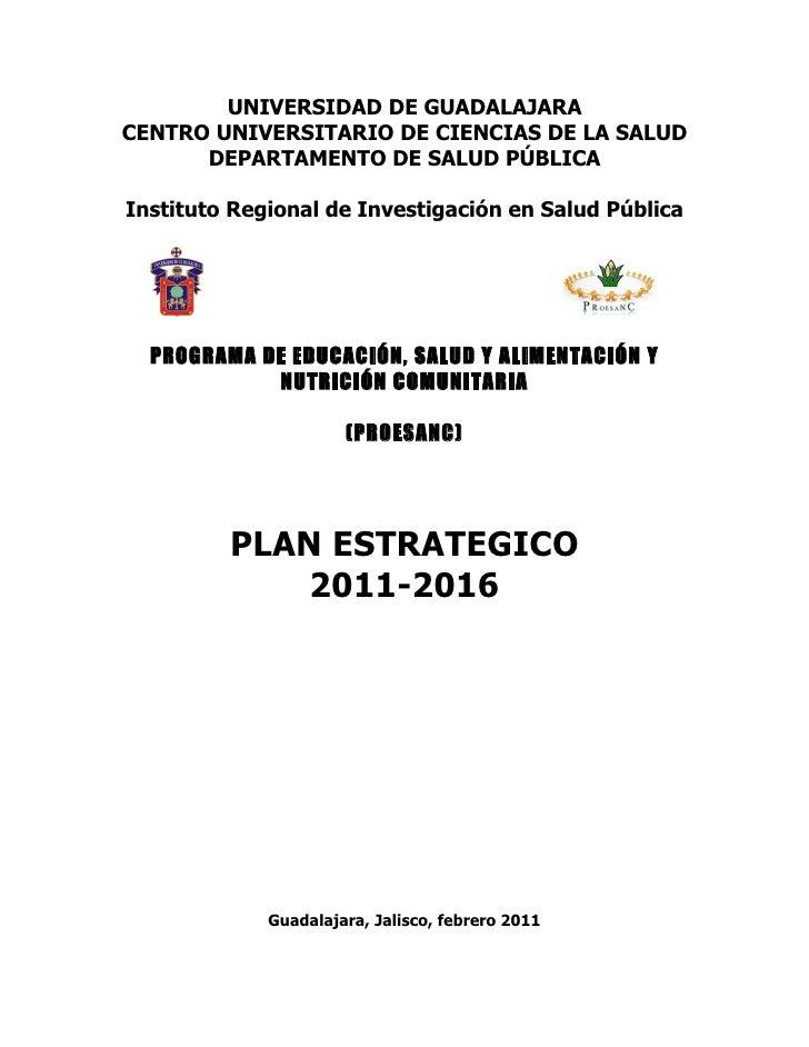 UNIVERSIDAD DE GUADALAJARACENTRO UNIVERSITARIO DE CIENCIAS DE LA SALUD      DEPARTAMENTO DE SALUD PÚBLICAInstituto Regiona...
