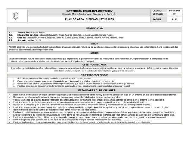 INSTITUCIÓN EDUCATIVA CRISTO REY                                                                   CODIGO             PA-P...