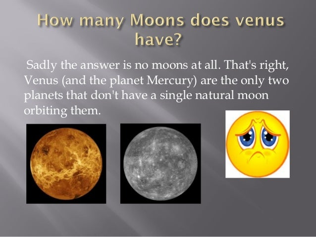 how does venus have moons - photo #19