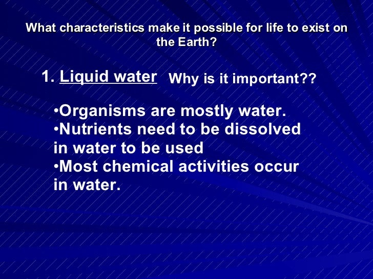 why is usually water fluids necessary intended for life