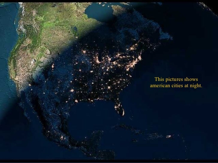 Planet earth from the outer space this pictures shows american cities at night voltagebd Image collections